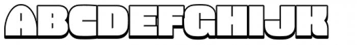 Force Shadow Font UPPERCASE