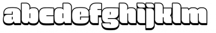 Force Shadow Font LOWERCASE