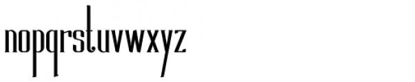 Foreman Font LOWERCASE
