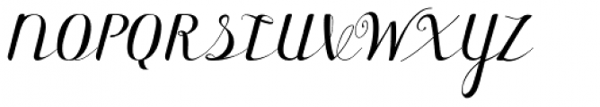 Forest Cursive Simple Font UPPERCASE