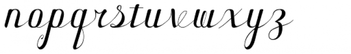 Forest Cursive Simple Font LOWERCASE