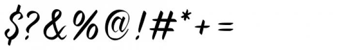 Forever Brush Script Font OTHER CHARS