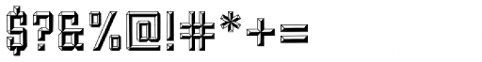 Forged Bevel Font OTHER CHARS