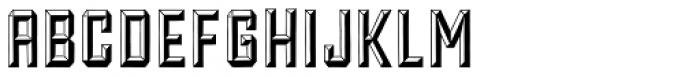 Forged Bevel Font UPPERCASE