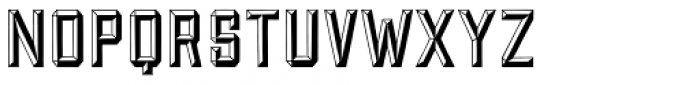 Forged Bevel Font LOWERCASE