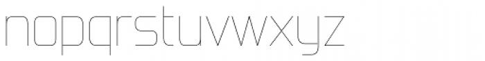 Forgotten Futurist UltraLight Font LOWERCASE