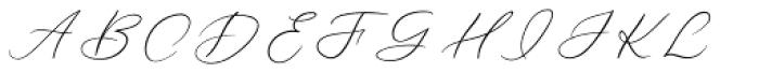 Forgotten Melody Regular Font UPPERCASE