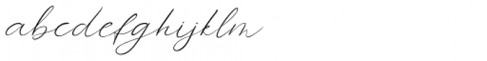 Forgotten Melody Regular Font LOWERCASE