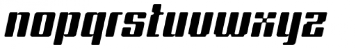 Formetic Bold Oblique Font LOWERCASE