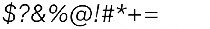 Formular Light Italic Font OTHER CHARS