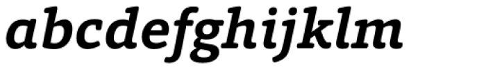 Foro Rounded Bold Italic Font LOWERCASE