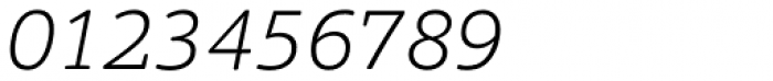 Foro Rounded ExtraLight Italic Font OTHER CHARS