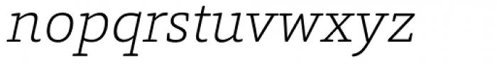 Foro Rounded ExtraLight Italic Font LOWERCASE