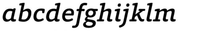 Foro Rounded Medium Italic Font LOWERCASE