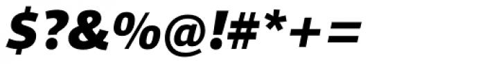 Foro Sans Black Italic Font OTHER CHARS
