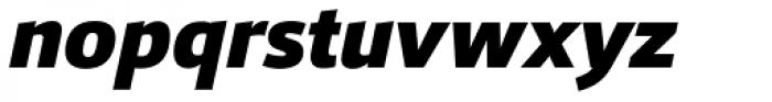 Foro Sans Black Italic Font LOWERCASE
