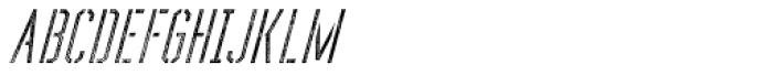 Forthland 10 Oblique Font UPPERCASE