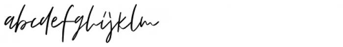 Fortune Script Font LOWERCASE