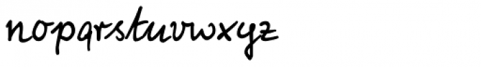 Foster Handwriting Font LOWERCASE