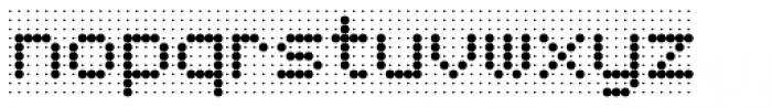 Foundry Flek Medium Font LOWERCASE
