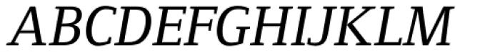 Foundry Form Serif Medium Italic Font UPPERCASE