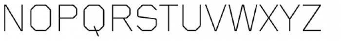 Foundry Gridnik Light Font UPPERCASE