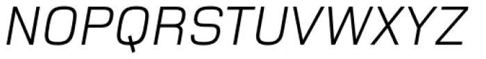 Foundry Monoline Italic Font UPPERCASE