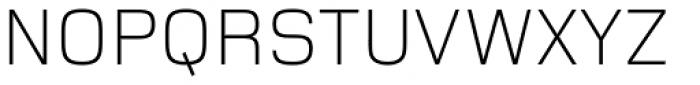 Foundry Monoline Light Font UPPERCASE