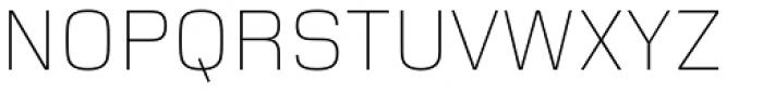 Foundry Monoline UltraLight Font UPPERCASE