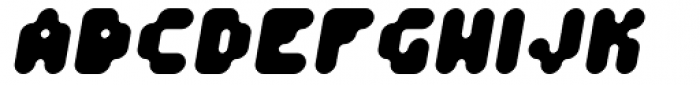 Fourforty ExtraBold Oblique Font UPPERCASE