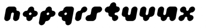 Fourforty ExtraBold Oblique Font LOWERCASE