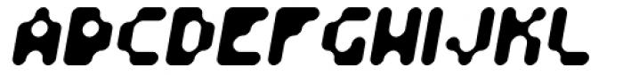 Fourforty Oblique Font UPPERCASE