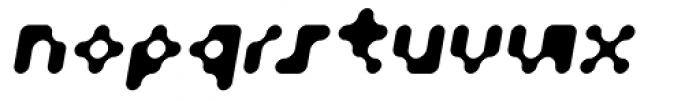 Fourforty Oblique Font LOWERCASE