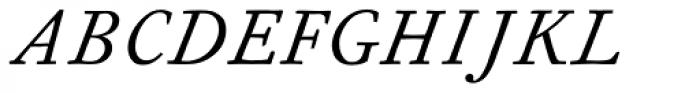 Fournier MT Italic Tall Caps Font UPPERCASE