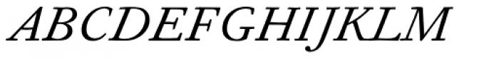 Fournier MT Italic Font UPPERCASE