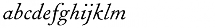 Fournier MT Italic Font LOWERCASE