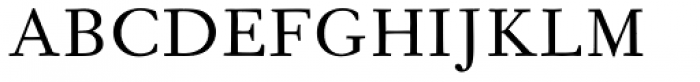 Fournier MT Regular Font UPPERCASE