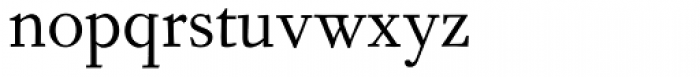 Fournier MT Regular Font LOWERCASE