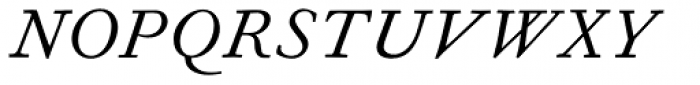 Fournier MT Std Italic Font UPPERCASE