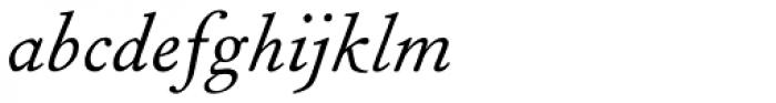 Fournier MT Std Italic Font LOWERCASE