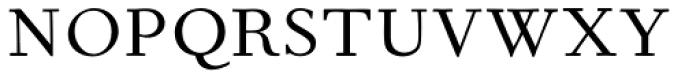 Fournier MT Std Regular Font UPPERCASE