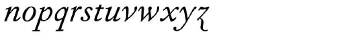 Fournier Std Italic Font LOWERCASE