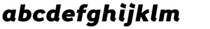 Fox Grotesque Black Italic Font LOWERCASE