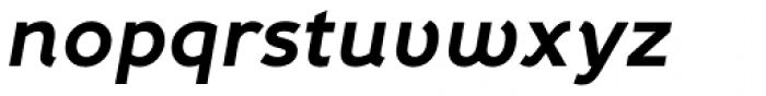 Fox Grotesque Bold Italic Font LOWERCASE