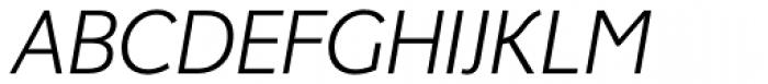 Fox Grotesque Light Italic Font UPPERCASE