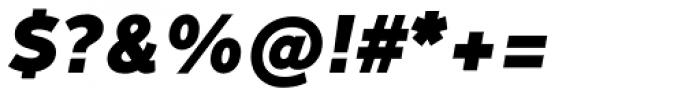 Fox Sans Pro Heavy Italic Font OTHER CHARS