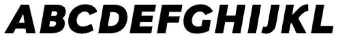 Fox Sans Pro Heavy Italic Font UPPERCASE