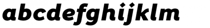 Fox Sans Pro Heavy Italic Font LOWERCASE