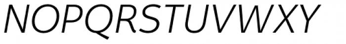 Fox Sans Pro Light Italic Font UPPERCASE