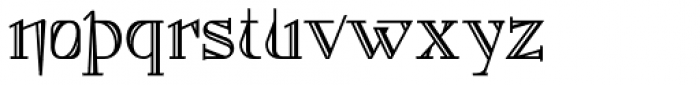 Foxcroft Shaded NF Font LOWERCASE
